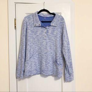 Lucy Snap Fleece Pullover Sweatshirt Size L/XL